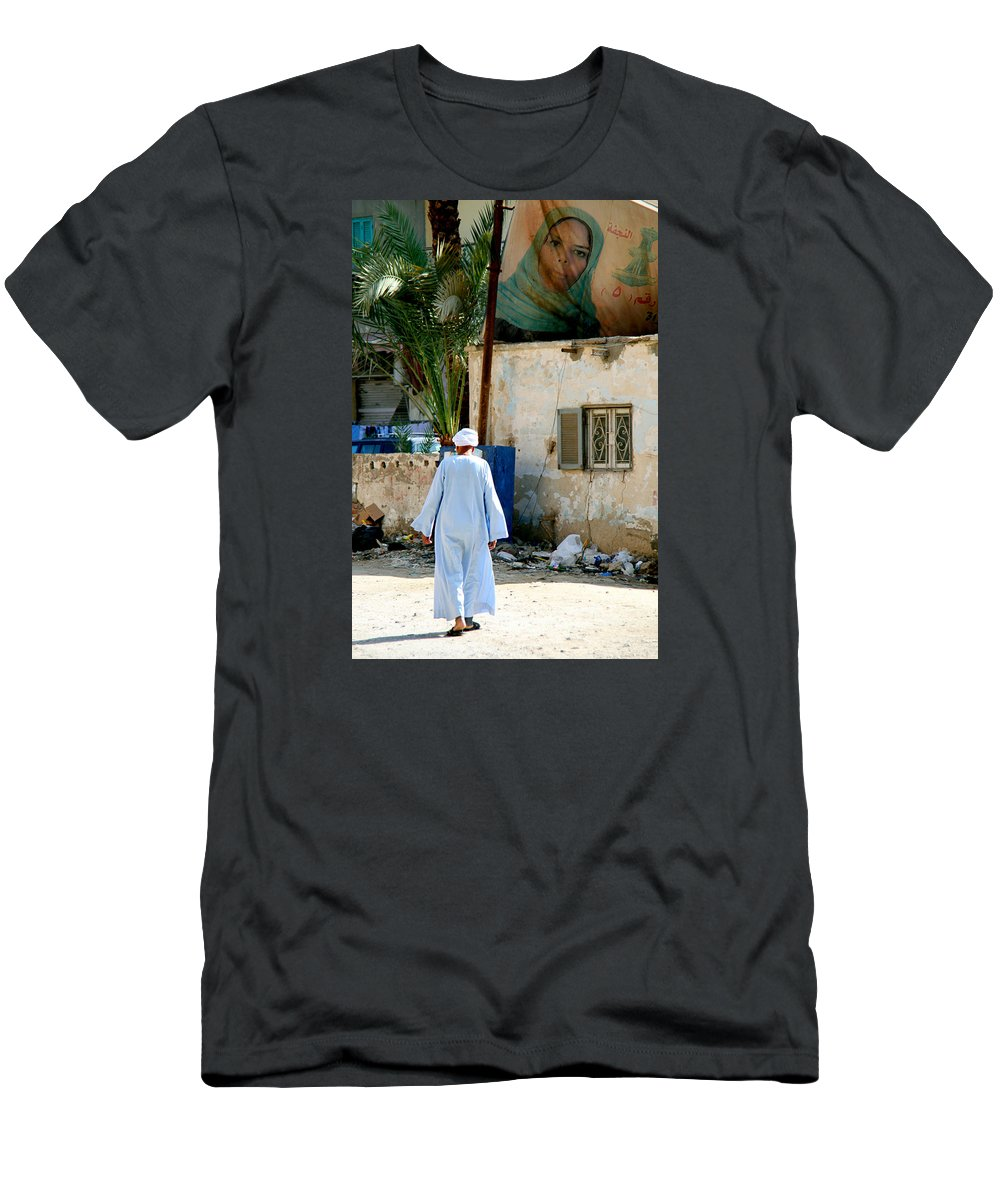 Hurghada Men's T-Shirt (Athletic Fit) featuring the photograph I Should Have Loved Her The Way I Felt by Jez C Self
