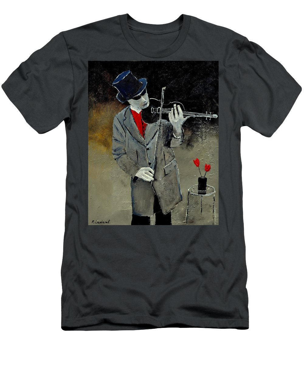 Music Men's T-Shirt (Athletic Fit) featuring the painting I Ve Two Loves by Pol Ledent