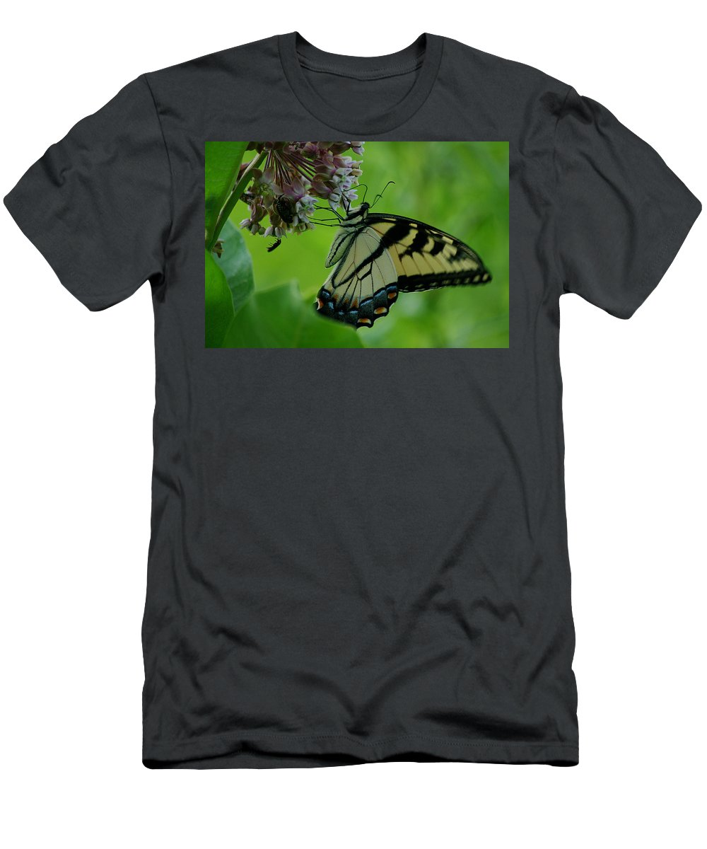 Jenny Gandert Men's T-Shirt (Athletic Fit) featuring the photograph I Want To Be A Butterfly by Jenny Gandert
