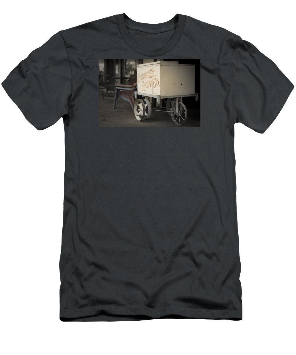 Ice Cream Men's T-Shirt (Athletic Fit) featuring the photograph Ice Cream Cart by Paul Gibson