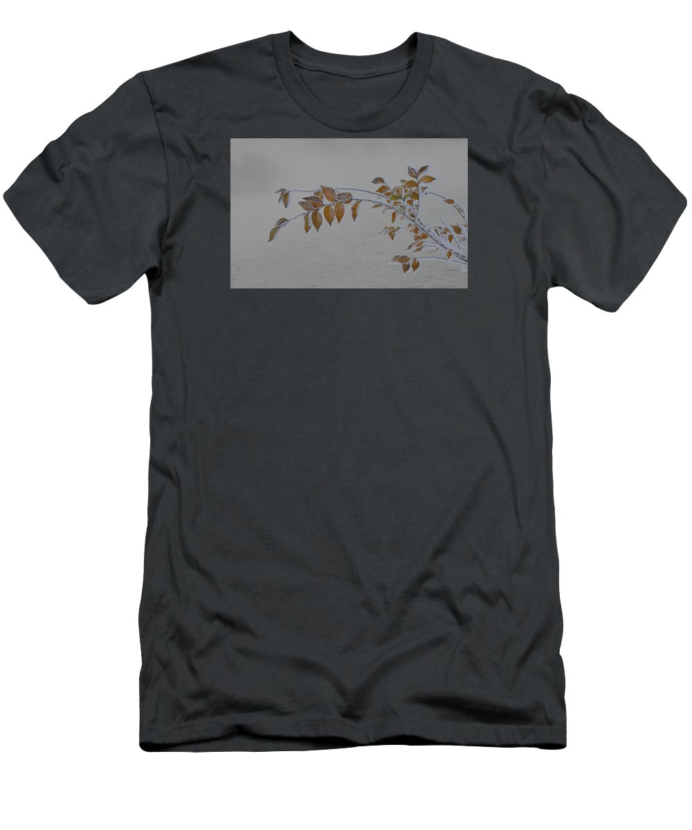 Ice Men's T-Shirt (Athletic Fit) featuring the photograph Ice Shell by Marty Jordan