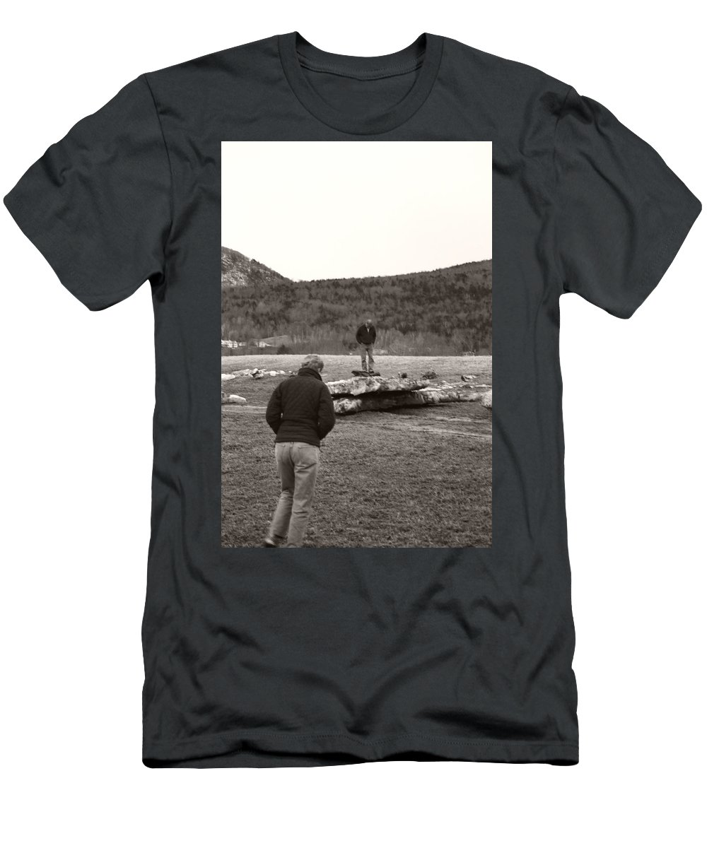 Men's T-Shirt (Athletic Fit) featuring the photograph Iceberg Separation by Heather Kirk