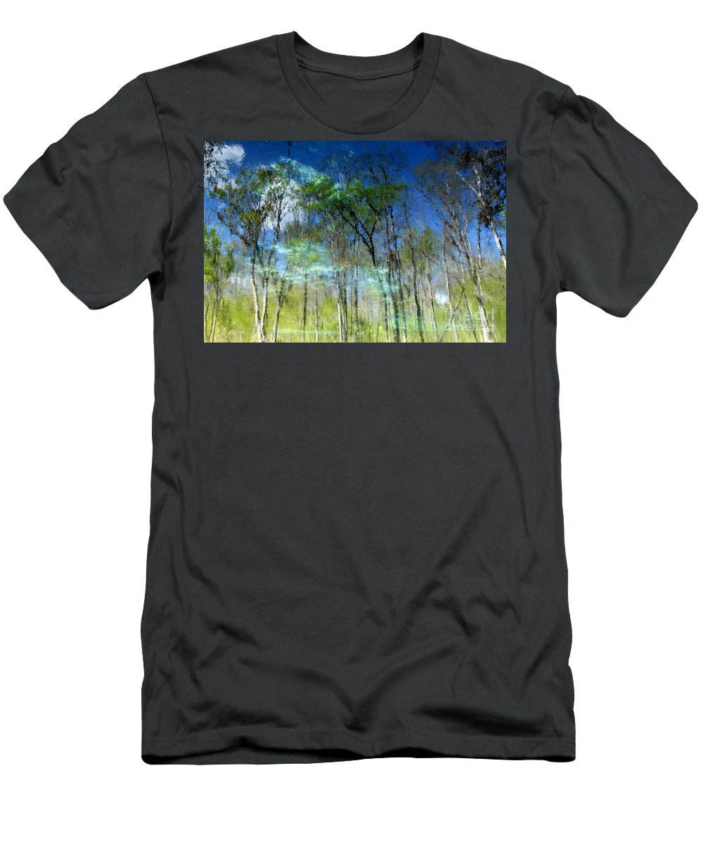River Men's T-Shirt (Athletic Fit) featuring the photograph Ichetucknee Reflections by David Lee Thompson