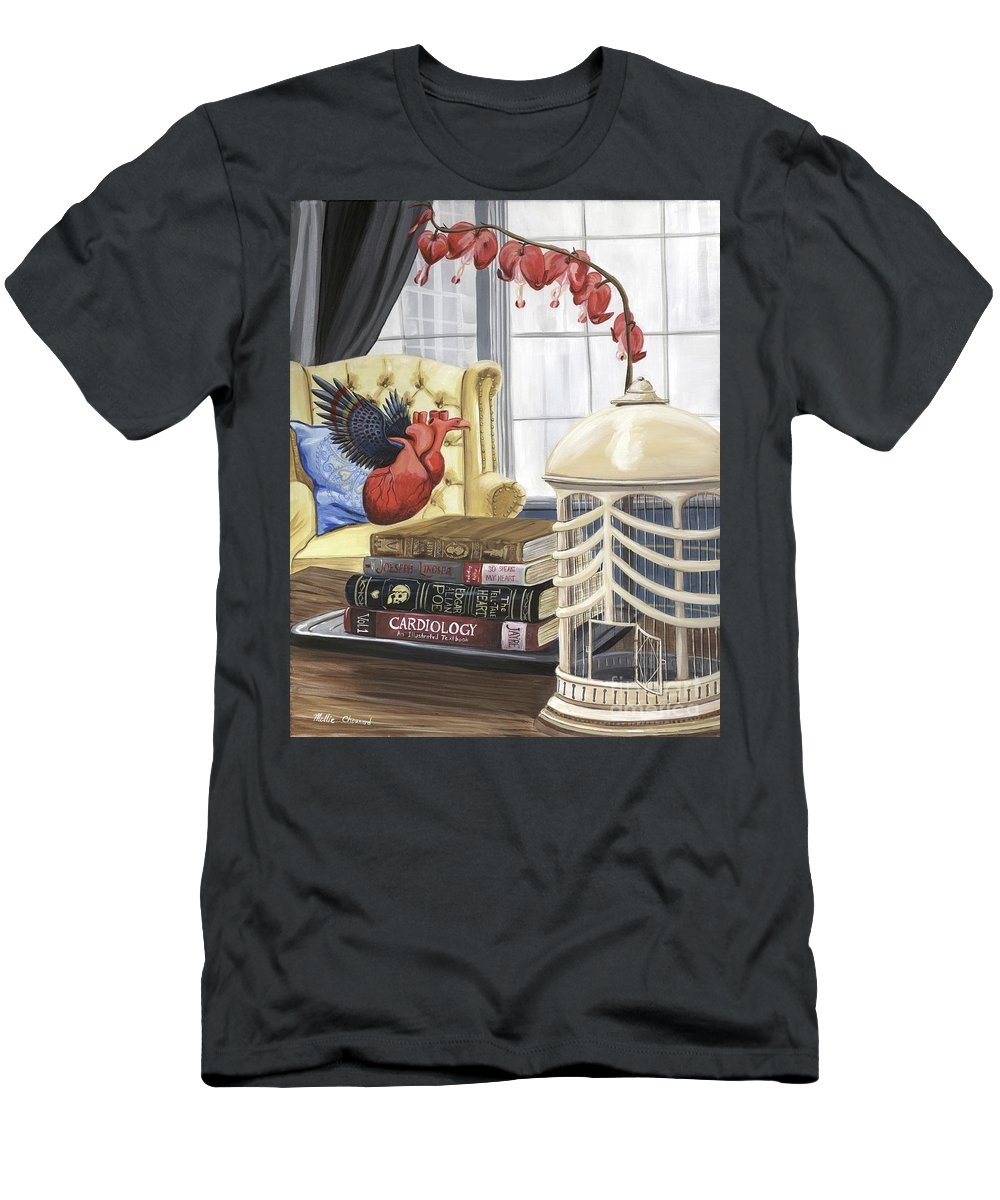 Love Men's T-Shirt (Athletic Fit) featuring the painting If Hearts Could Fly by Mollie Chounard