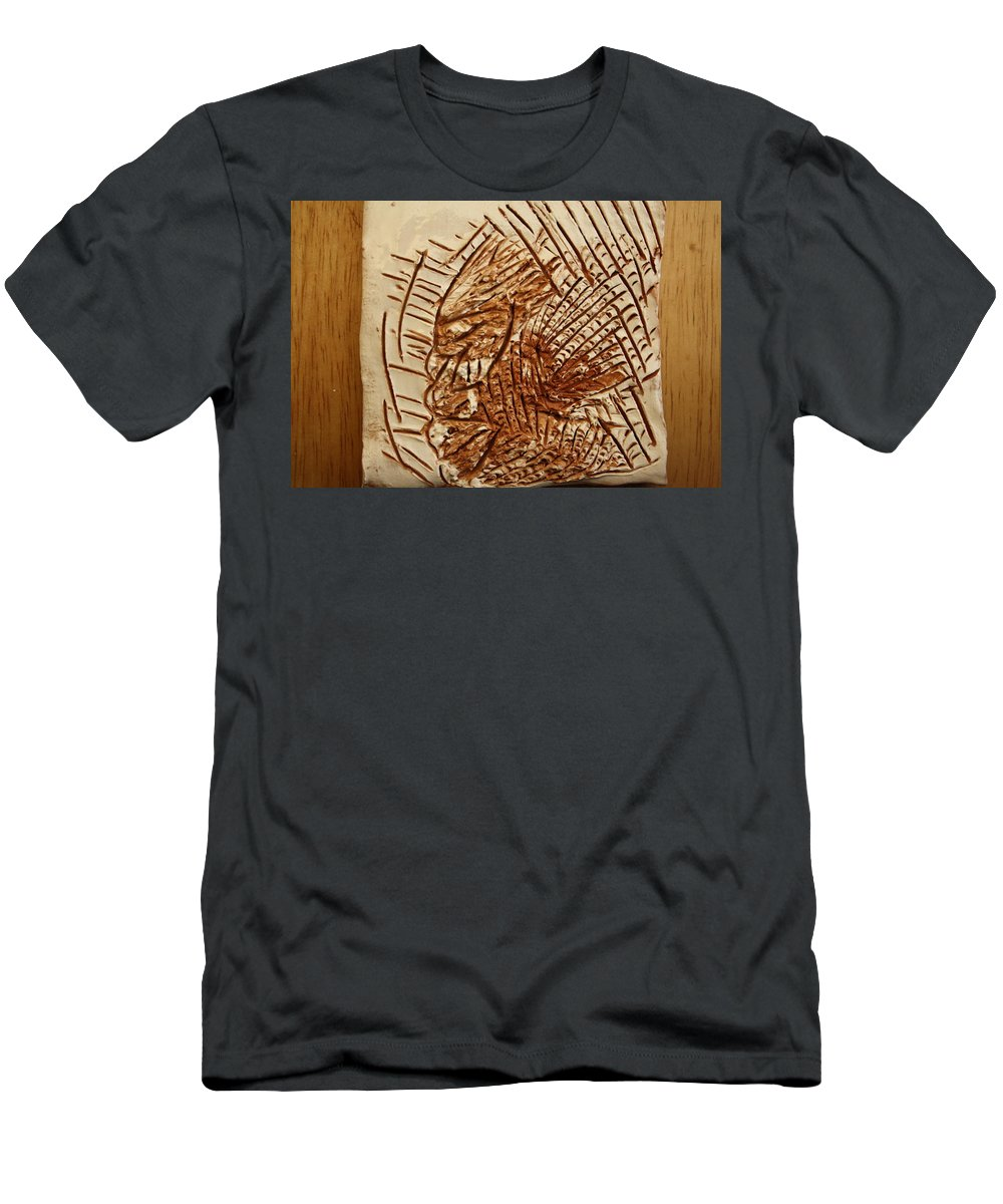 Jesus Men's T-Shirt (Athletic Fit) featuring the ceramic art Ignite - Tile by Gloria Ssali