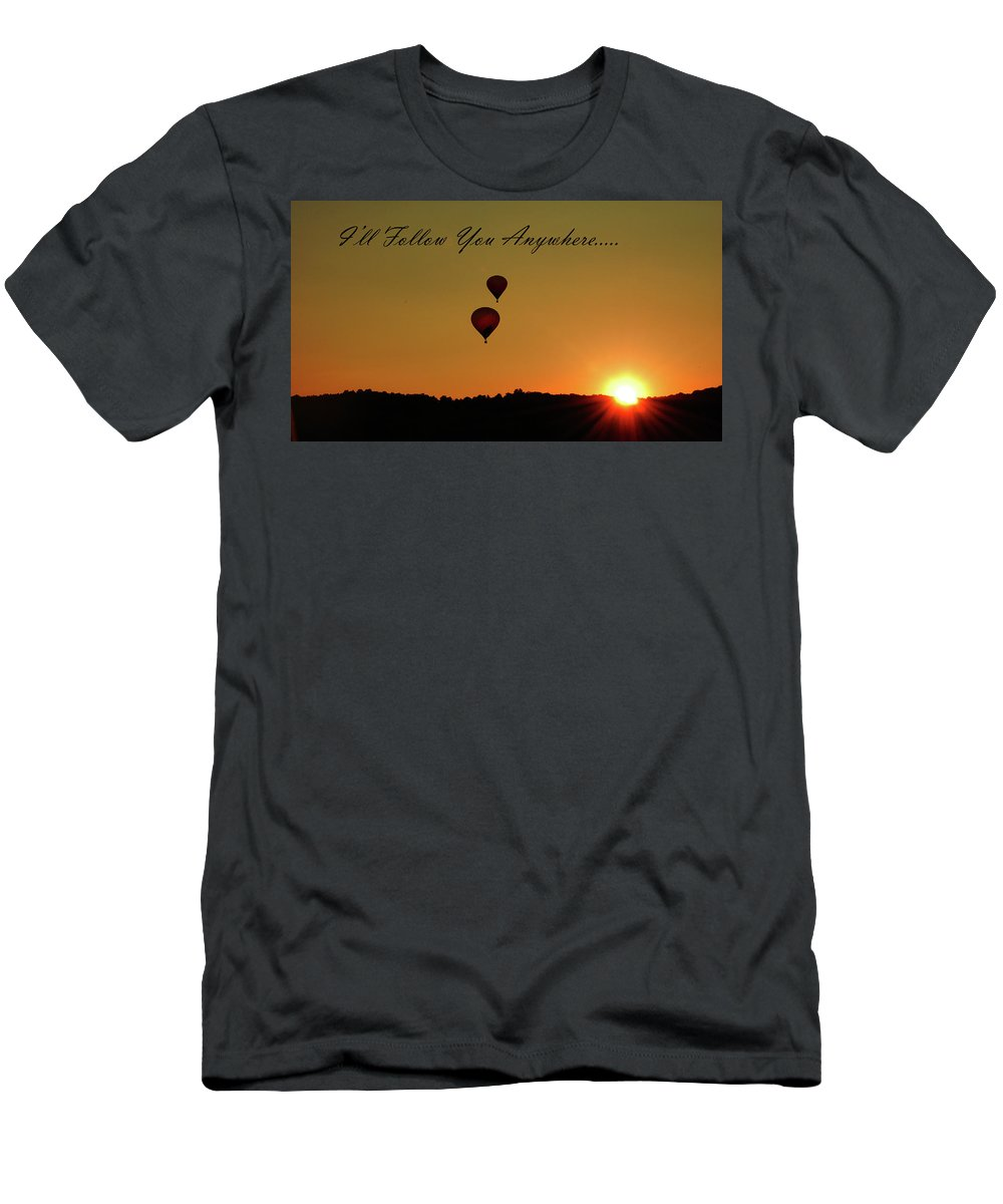 Balloon Men's T-Shirt (Athletic Fit) featuring the photograph I'll Follow You Anywhere by Lori Tambakis