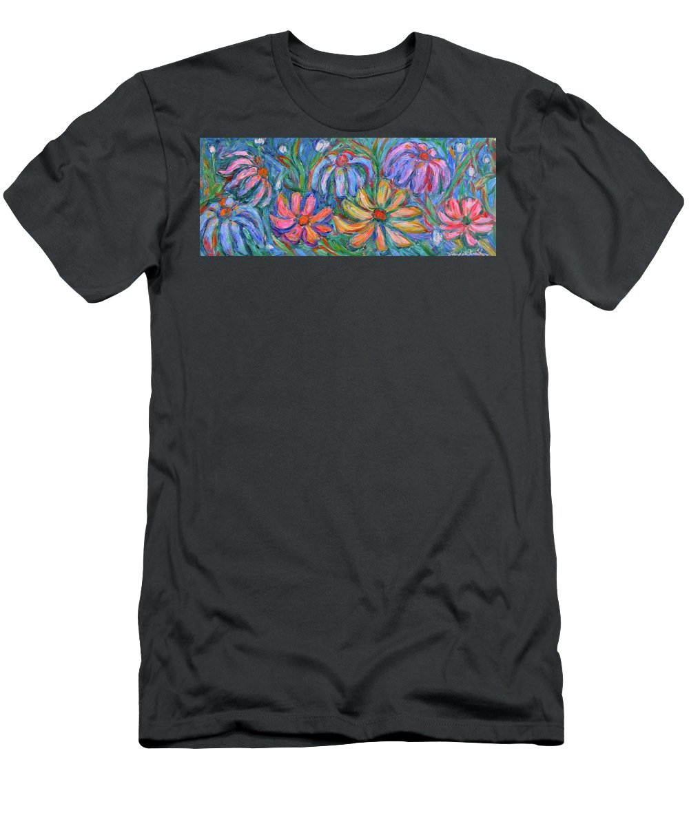 Flowers Men's T-Shirt (Athletic Fit) featuring the painting Imaginary Flowers by Kendall Kessler