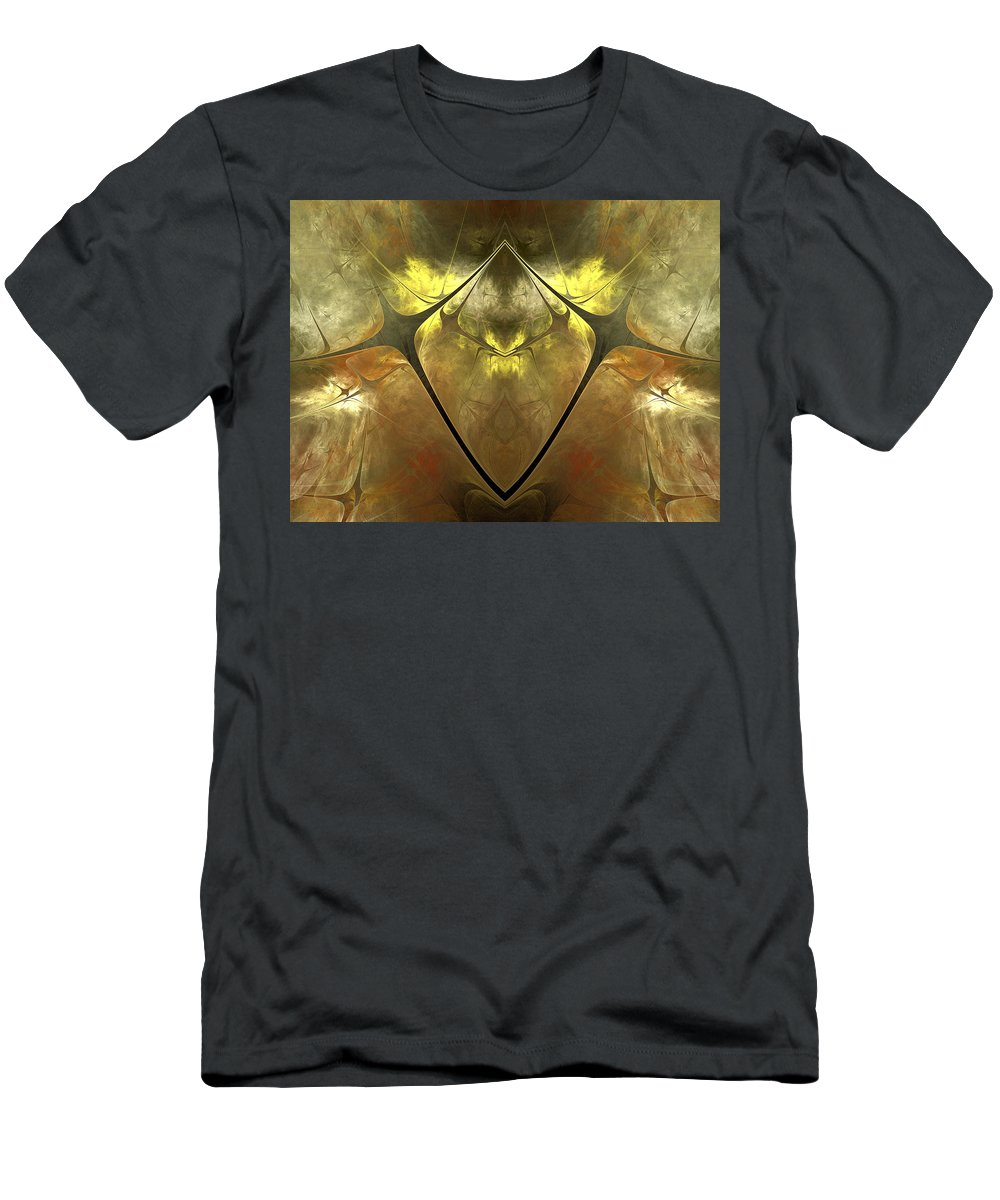 Fractal Men's T-Shirt (Athletic Fit) featuring the digital art Imperial Topaz by Amorina Ashton