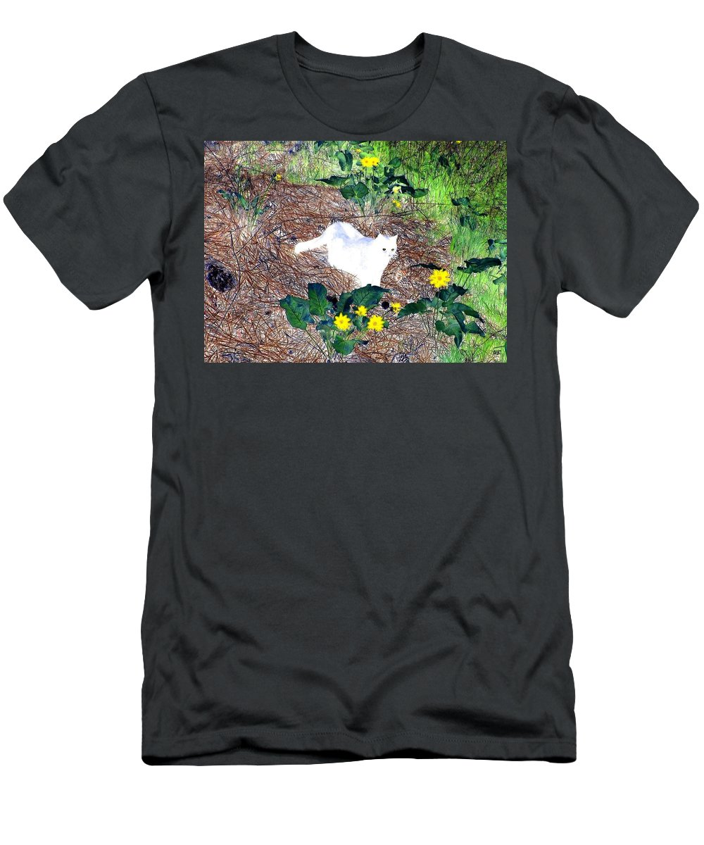 Impressions Men's T-Shirt (Athletic Fit) featuring the digital art Impressions 4 by Will Borden
