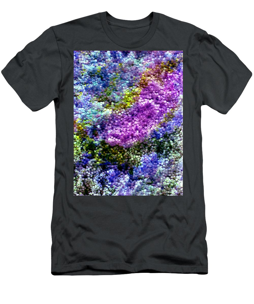 Abstract Men's T-Shirt (Athletic Fit) featuring the painting Impressions From The Garden by Wayne Potrafka