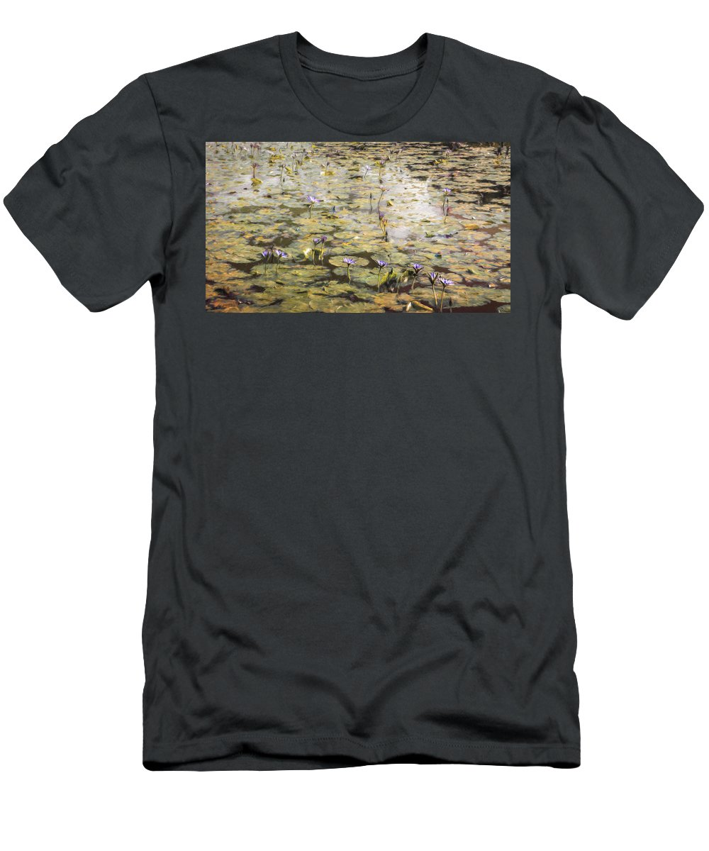 Giverny Men's T-Shirt (Athletic Fit) featuring the photograph Impressions Of Giverny by Remi D Photography
