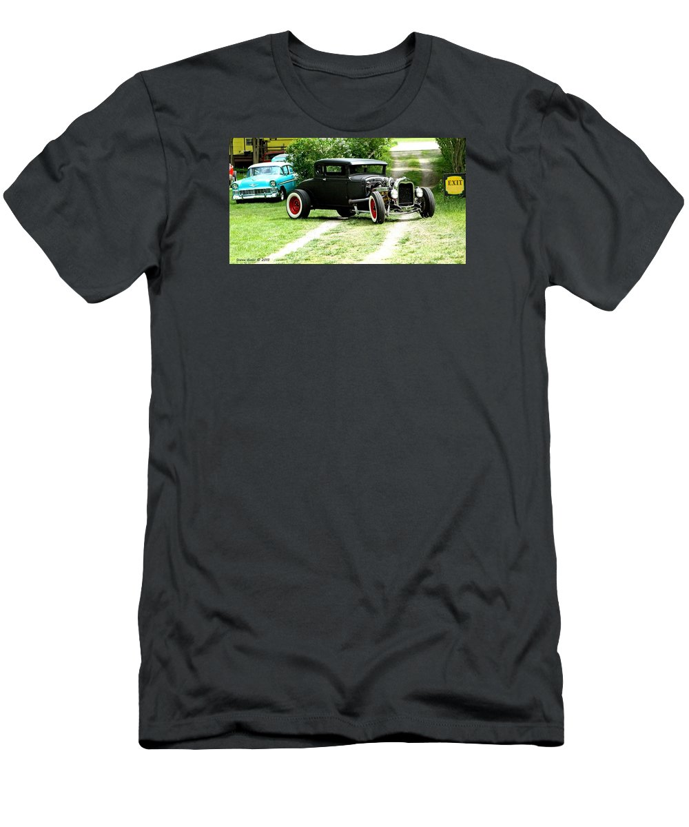 Black Impressive Mood Car Auto Automobile Classic Vintage Collect Collection Life T-Shirt featuring the photograph Impressive. by Stevie Ellis