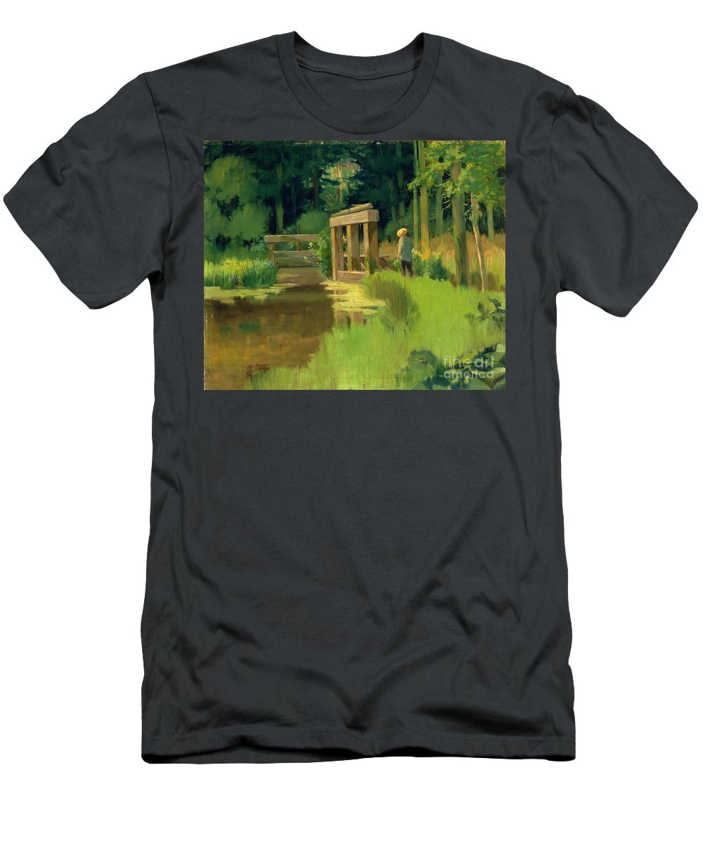 In A Park Men's T-Shirt (Athletic Fit) featuring the painting In A Park by Edouard Manet