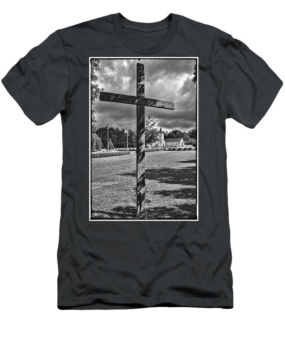 Christian Men's T-Shirt (Athletic Fit) featuring the photograph In God We Trust by Rosemary Jardine