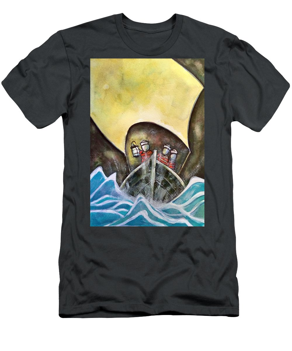 Men's T-Shirt (Athletic Fit) featuring the painting In Pursuit Of by Michael Rome