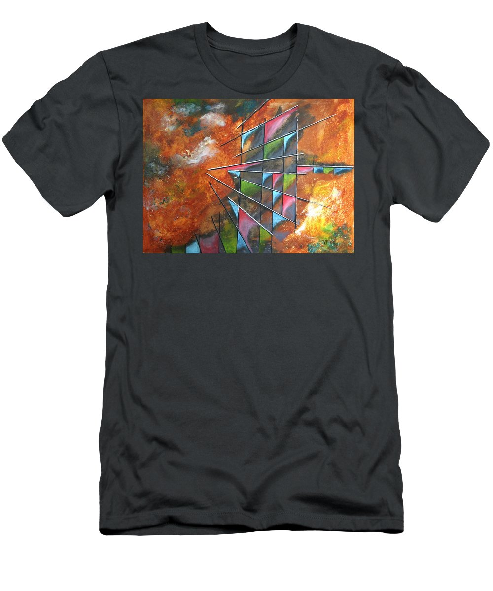Vifer Men's T-Shirt (Athletic Fit) featuring the painting In Space by Vitor Fernandes VIFER