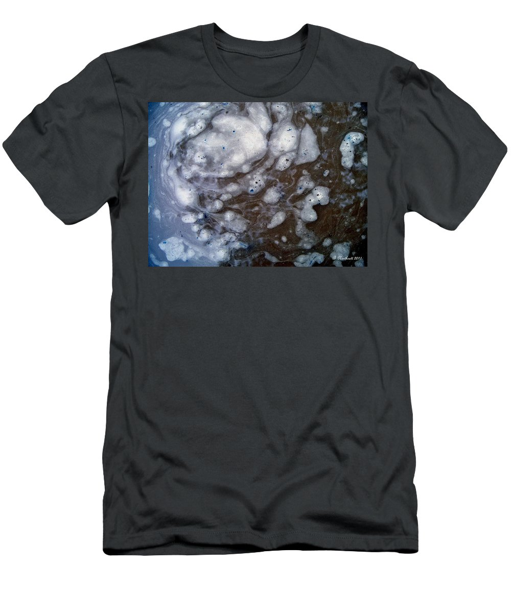 Abstract Men's T-Shirt (Athletic Fit) featuring the photograph In The Beginning - Creationism Expressionism by Betty Northcutt
