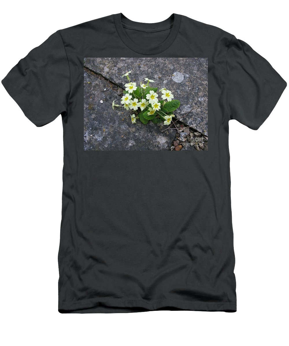 Primrose Men's T-Shirt (Athletic Fit) featuring the photograph In The Garden Path by Ann Horn