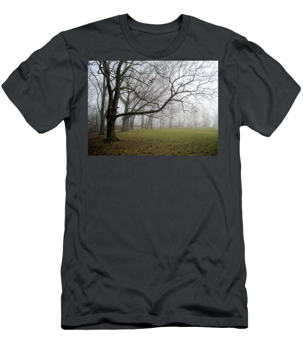 Fog Men's T-Shirt (Athletic Fit) featuring the photograph In The Mist by Alexandra Nielsen