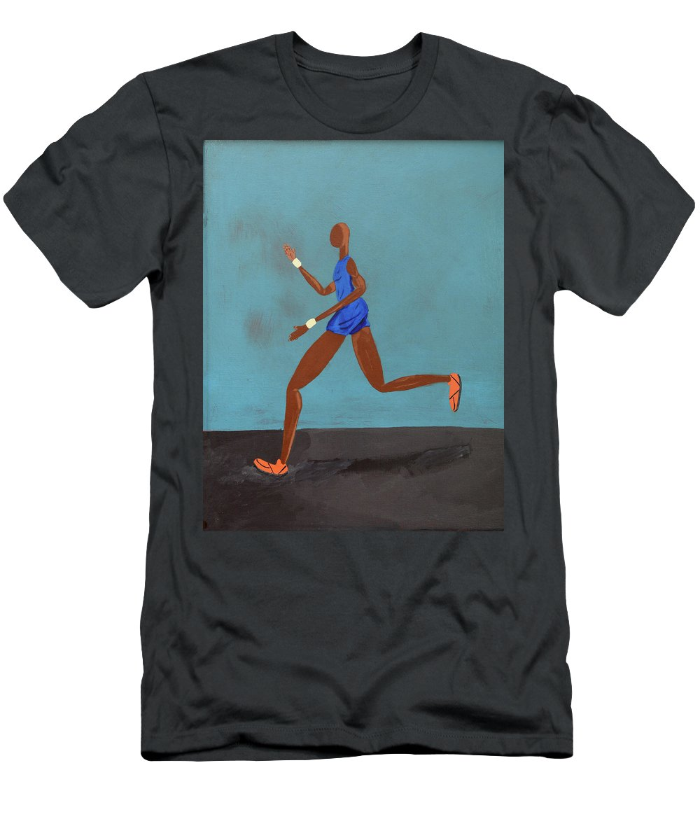 Acrylic Men's T-Shirt (Athletic Fit) featuring the digital art In The Wind by Martell Holloway