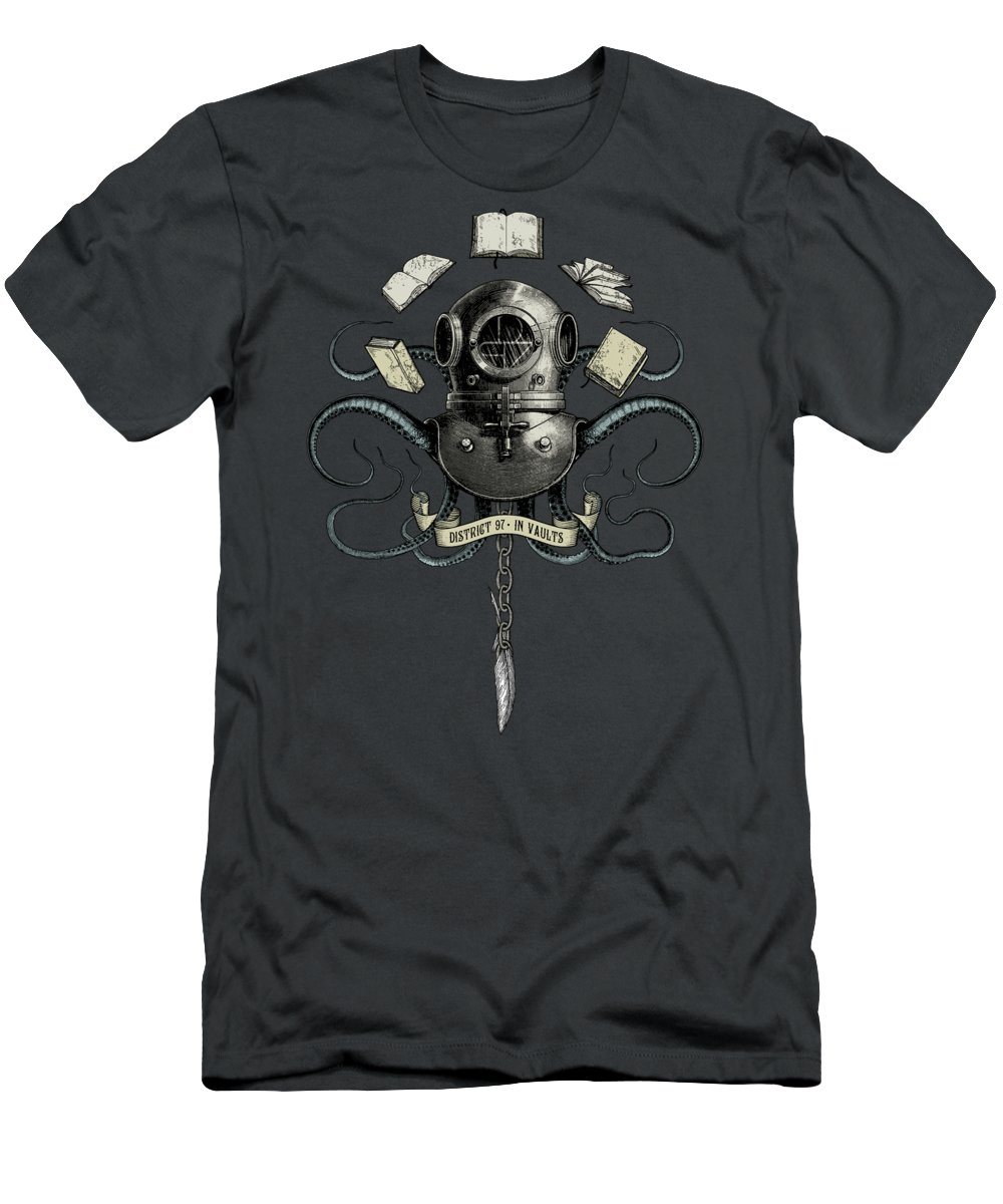 T-Shirt featuring the digital art In Vaults by District 97