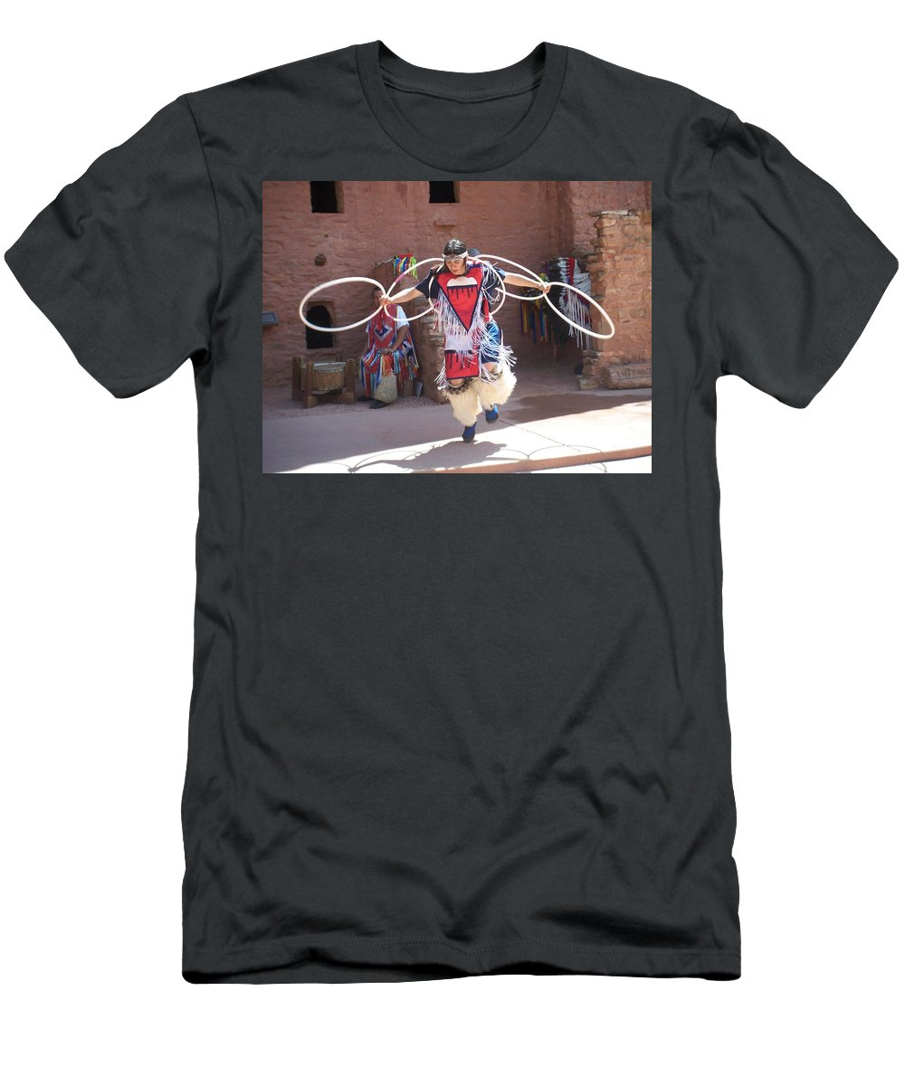 Indian Dancer T-Shirt featuring the photograph Indian hoop dancer by Anita Burgermeister