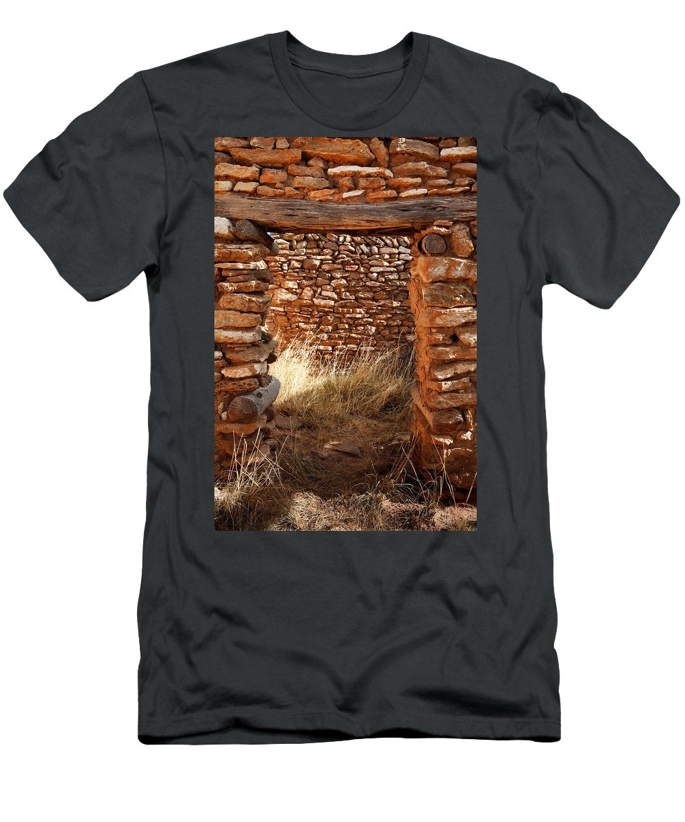New Mexico Men's T-Shirt (Athletic Fit) featuring the photograph Indian Ruins Doorway by Matt Suess