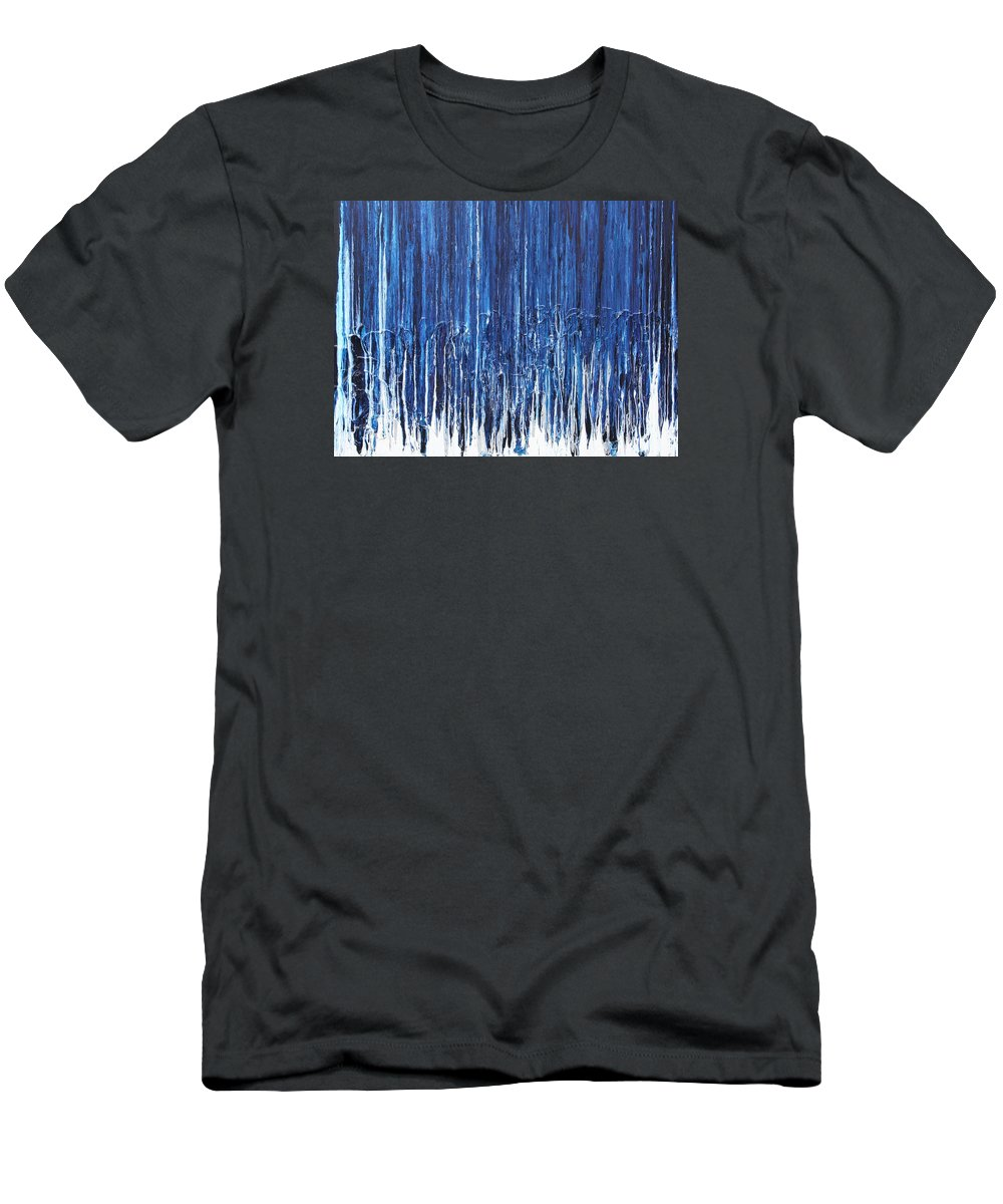 Fusionart T-Shirt featuring the painting Indigo Soul by Ralph White