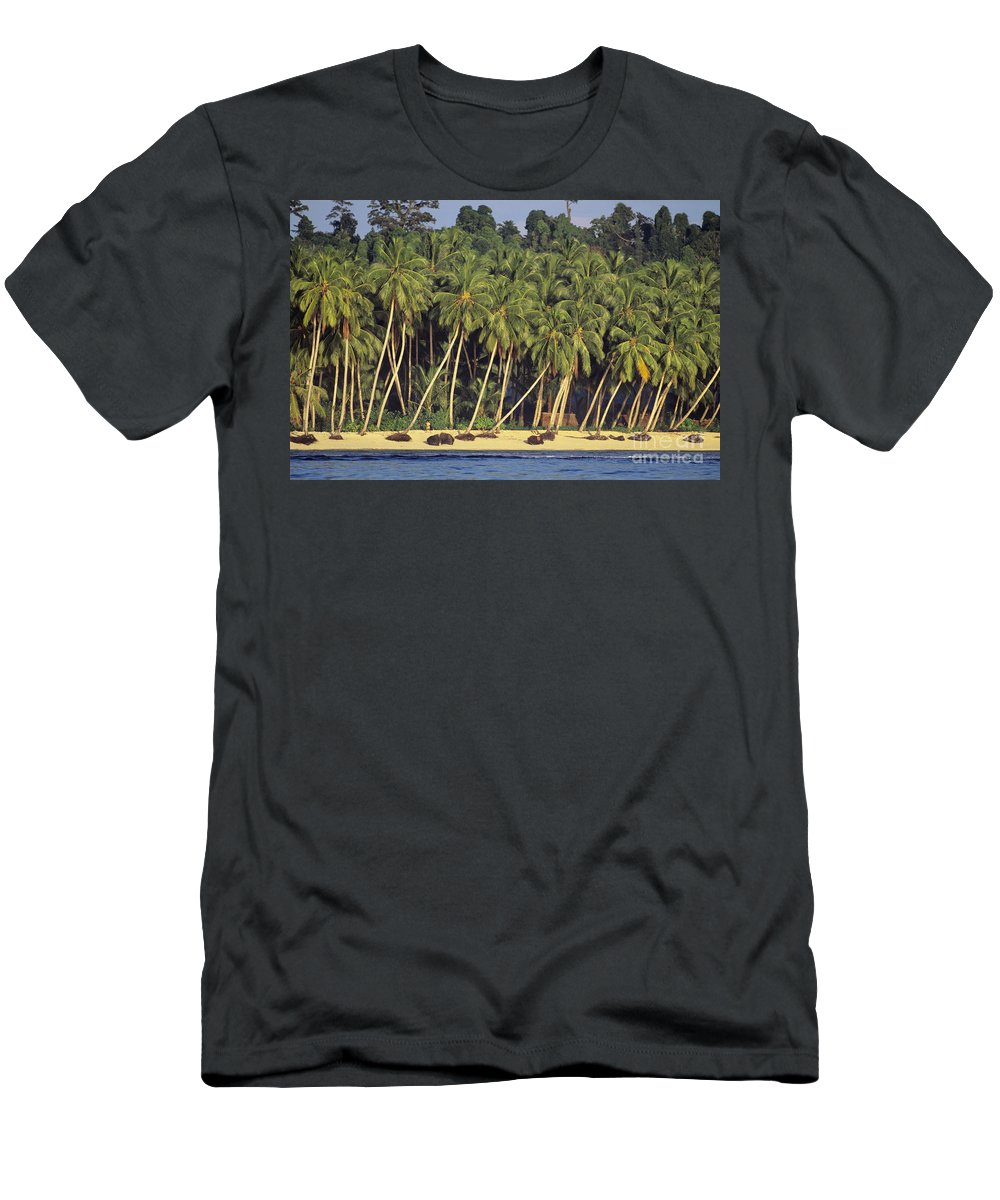 Ali O Neal Men's T-Shirt (Athletic Fit) featuring the photograph Indonesian Beach by Ali ONeal - Printscapes