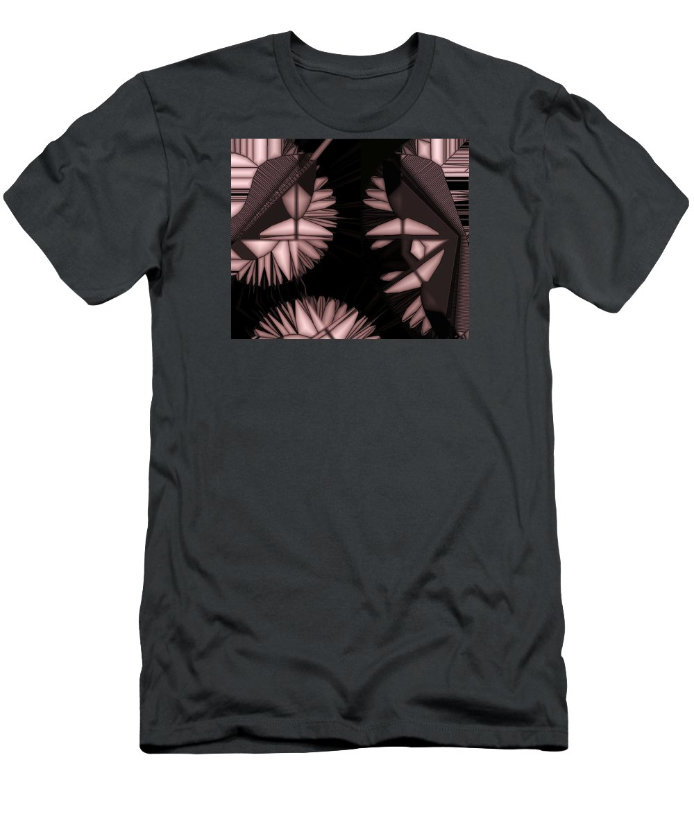Abstract Men's T-Shirt (Athletic Fit) featuring the digital art Infructescence by Ron Bissett