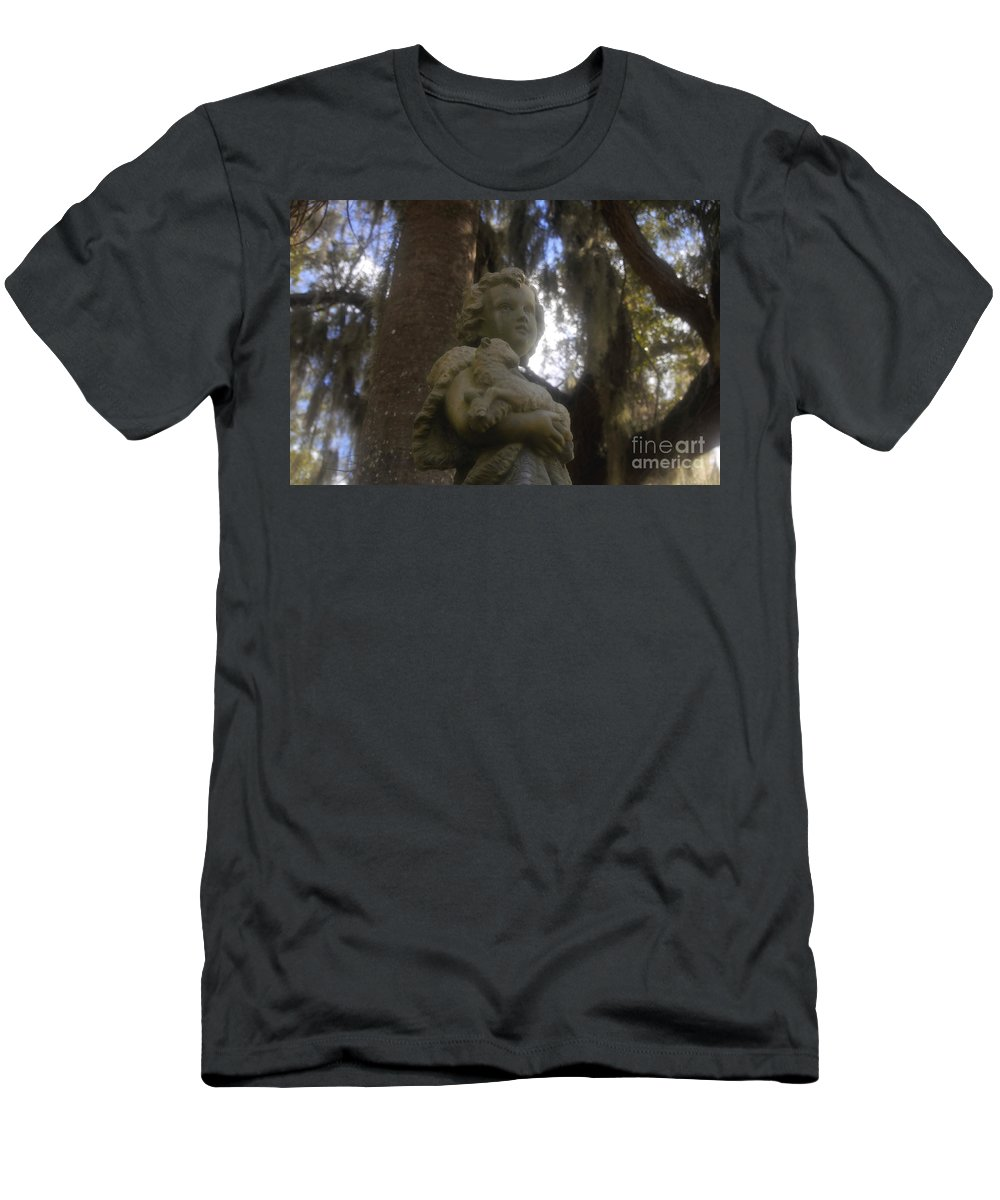Innocence Men's T-Shirt (Athletic Fit) featuring the photograph Innocence by David Lee Thompson