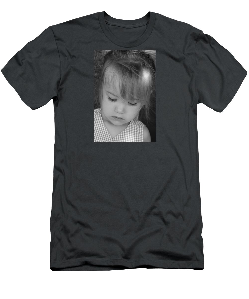 Angelic Men's T-Shirt (Athletic Fit) featuring the photograph Innocence by Margie Wildblood