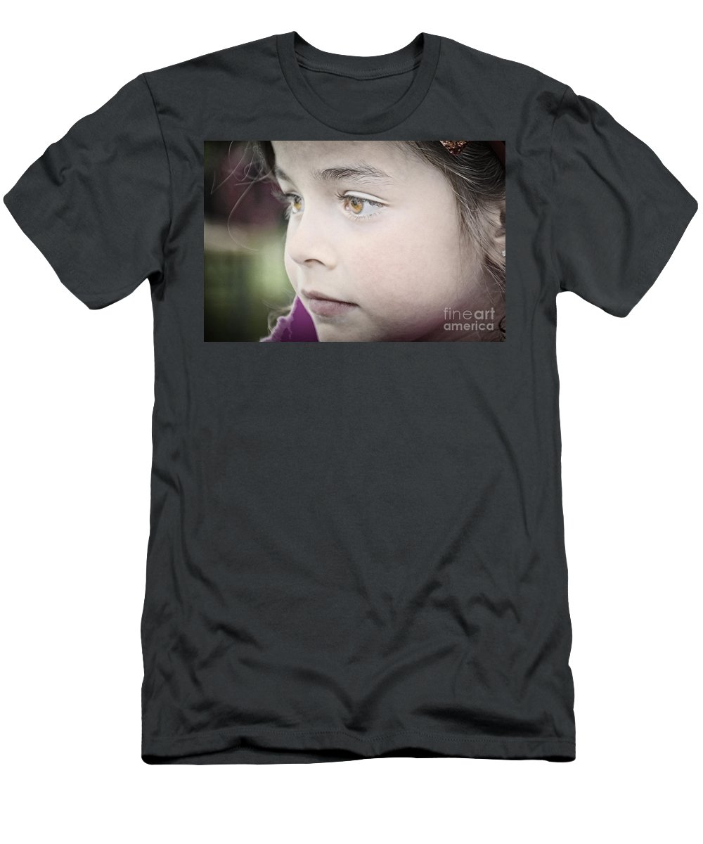 Child Men's T-Shirt (Athletic Fit) featuring the photograph Innocence by Photos By Zulma