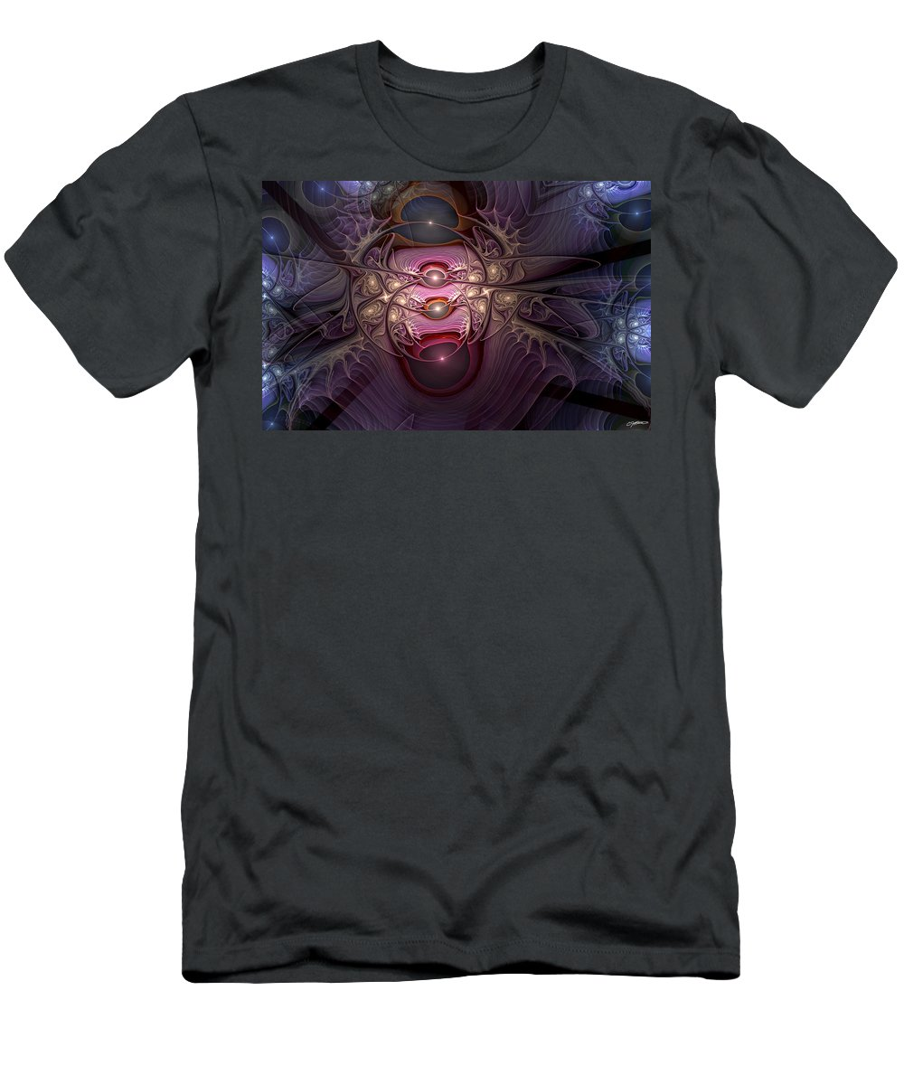 Abstract Men's T-Shirt (Athletic Fit) featuring the digital art Internecine by Casey Kotas