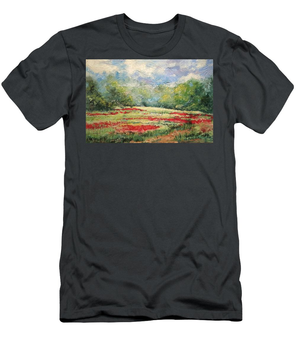 Clover Pastures T-Shirt featuring the painting Into the Clover by Ginger Concepcion