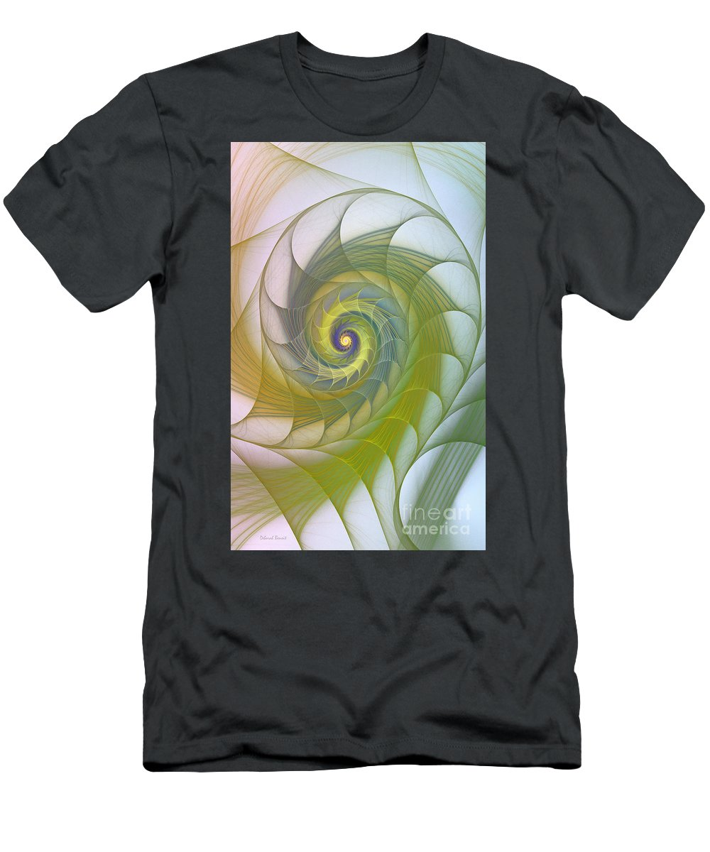 Fractal Men's T-Shirt (Athletic Fit) featuring the photograph Into The Inner Kingdom by Deborah Benoit