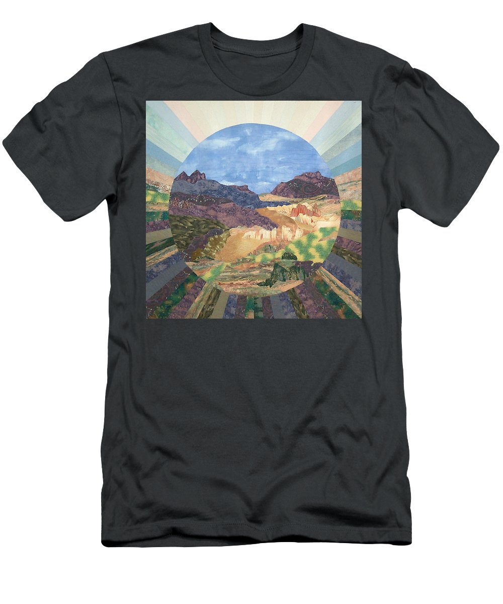 Quilt Men's T-Shirt (Athletic Fit) featuring the tapestry - textile Into The Mystery by MtnWoman Silver