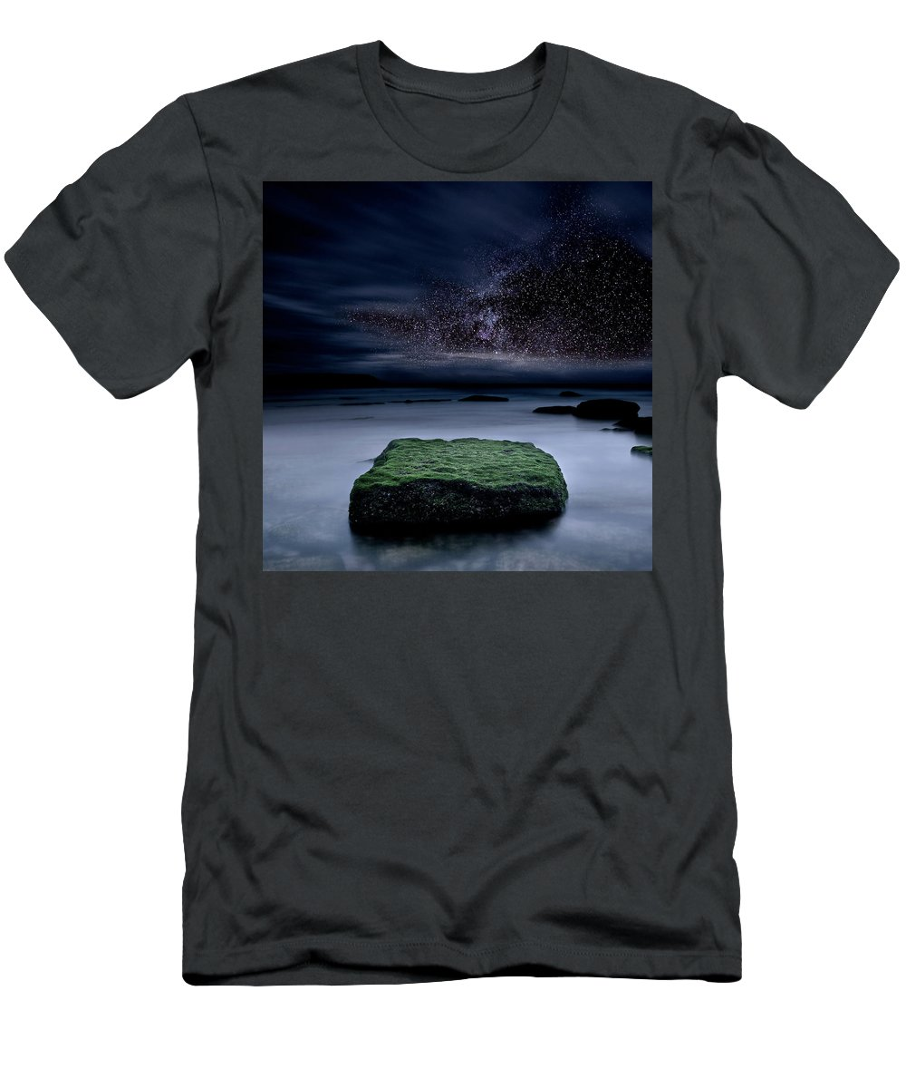 Night Men's T-Shirt (Athletic Fit) featuring the photograph Into The Shadows by Jorge Maia