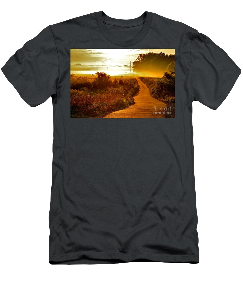 Landscape Men's T-Shirt (Athletic Fit) featuring the photograph Into The Unknown by Robert Pearson