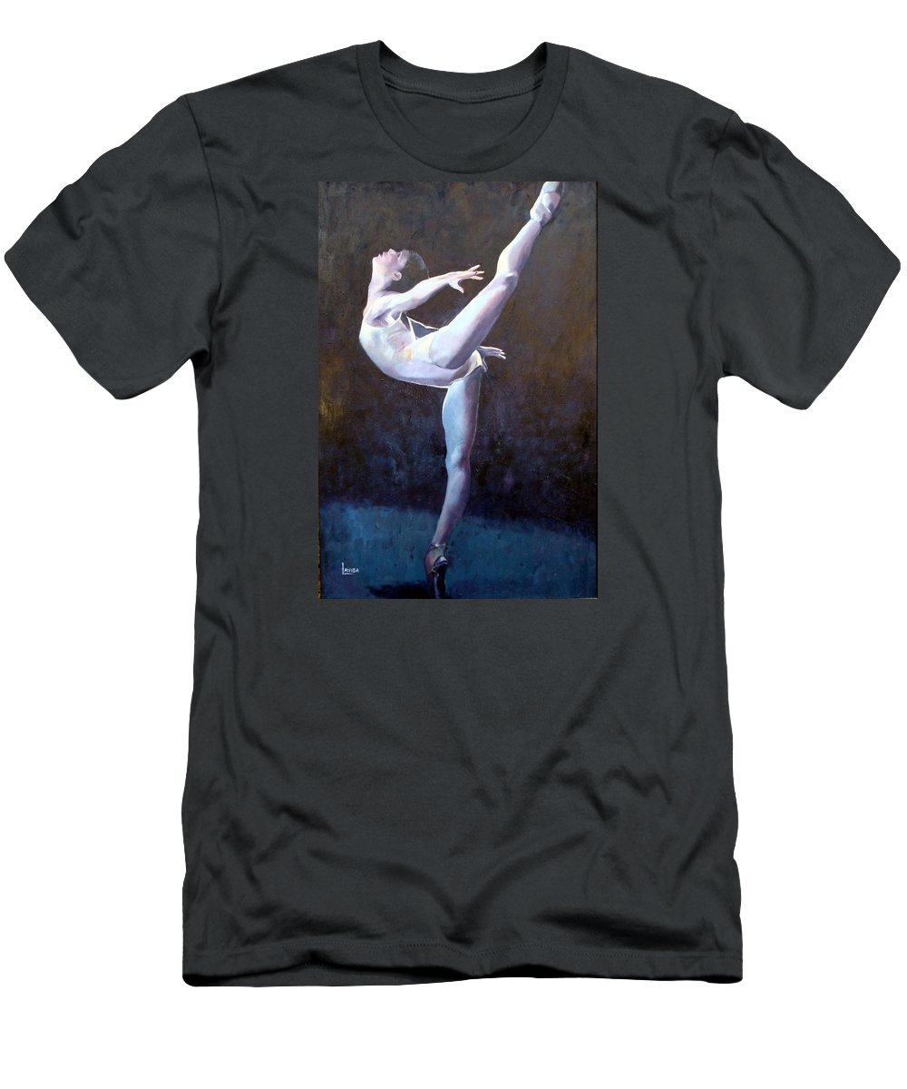 Ballerina Men's T-Shirt (Athletic Fit) featuring the painting Introduction by Janet Lavida