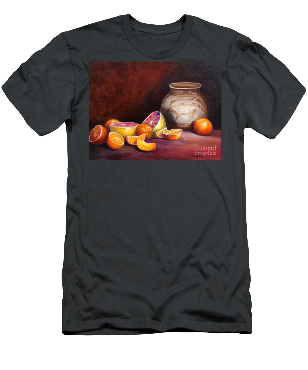 Still Life Paintings Men's T-Shirt (Athletic Fit) featuring the painting Iranian Still Life by Portraits By NC