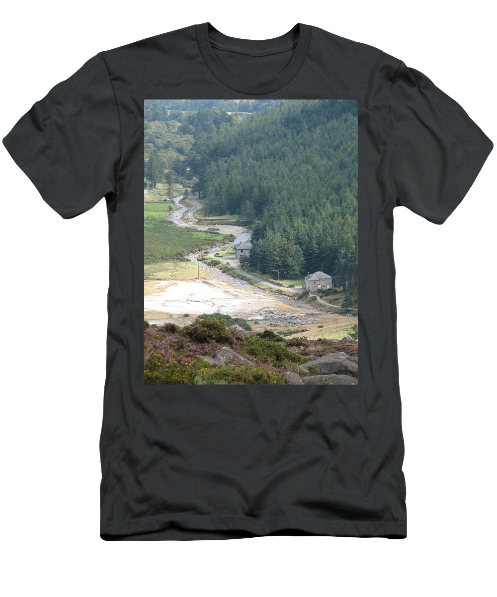 Ireland Men's T-Shirt (Athletic Fit) featuring the photograph Irish Valley by Kelly Mezzapelle