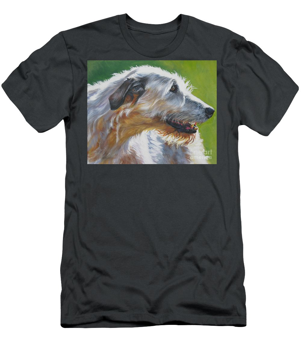 Dog Men's T-Shirt (Athletic Fit) featuring the painting Irish Wolfhound Beauty by Lee Ann Shepard
