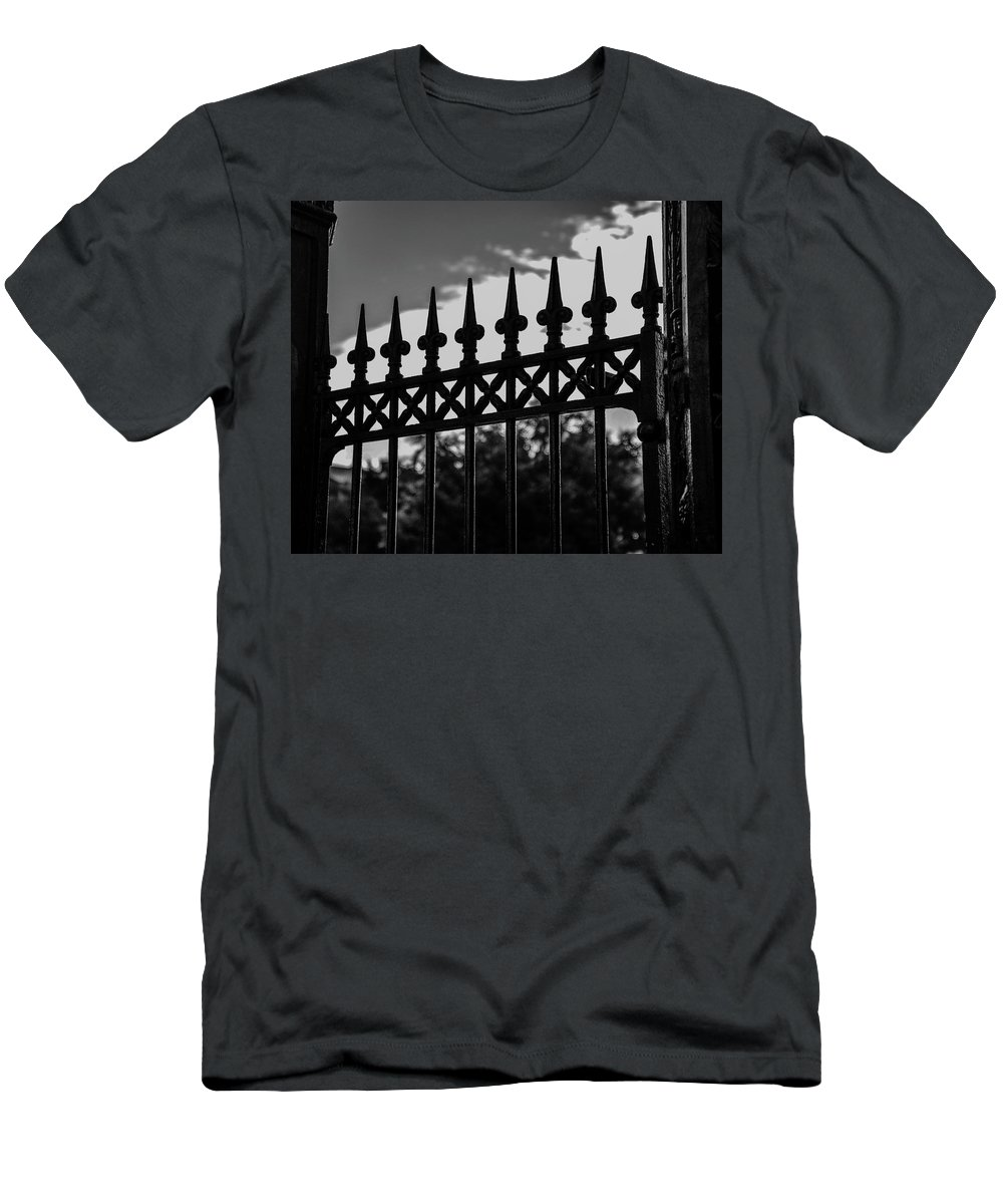New Orleans Men's T-Shirt (Athletic Fit) featuring the photograph Iron Gate by Jeff Watts