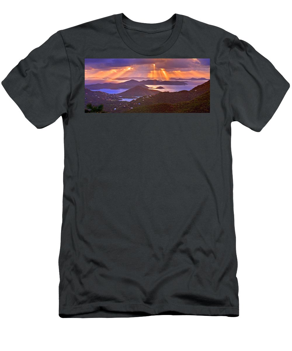 Virgin Islands Men's T-Shirt (Athletic Fit) featuring the photograph Island Rays by Scott Mahon