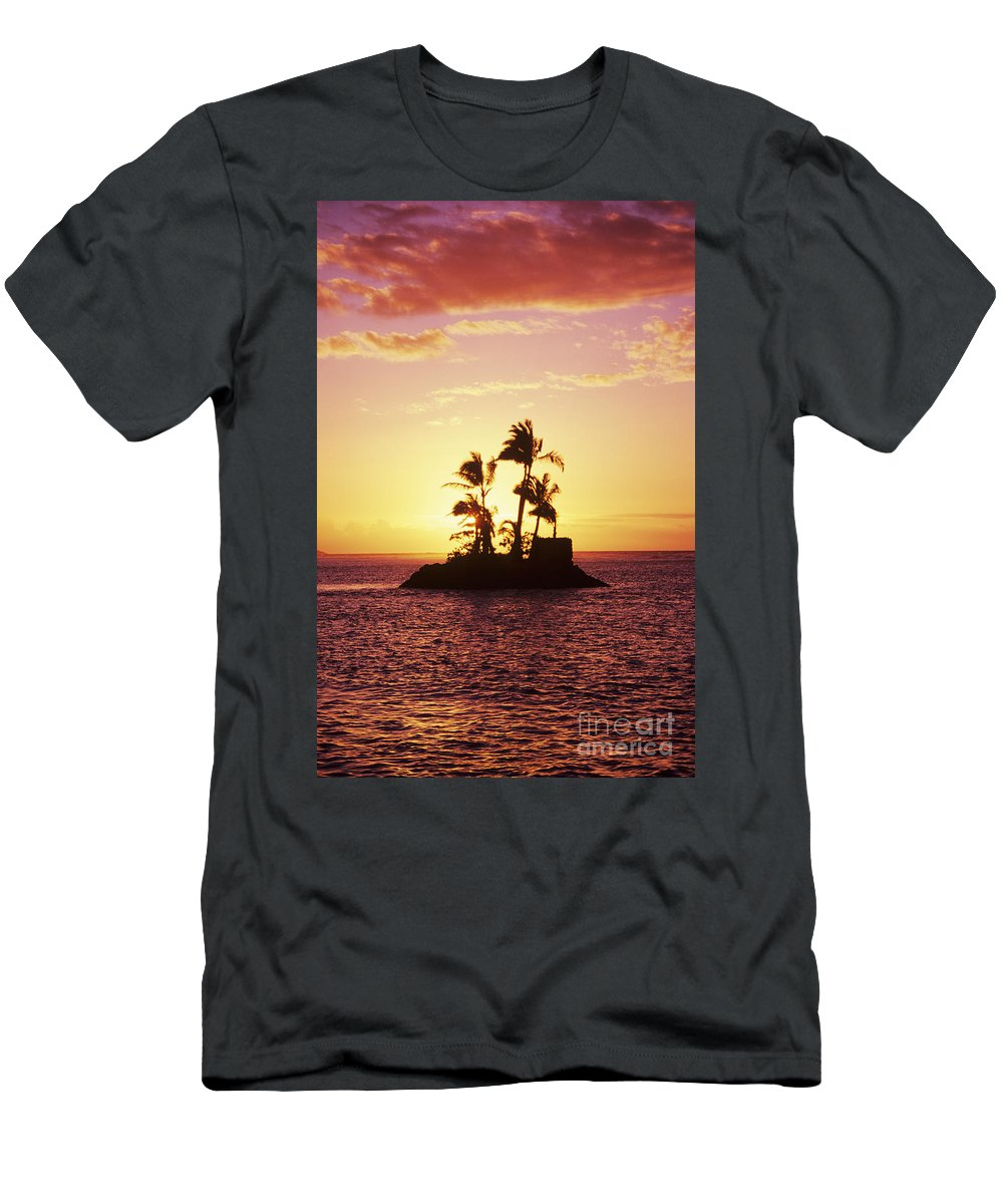 Alone Men's T-Shirt (Athletic Fit) featuring the photograph Island Silhouette by Tomas del Amo - Printscapes