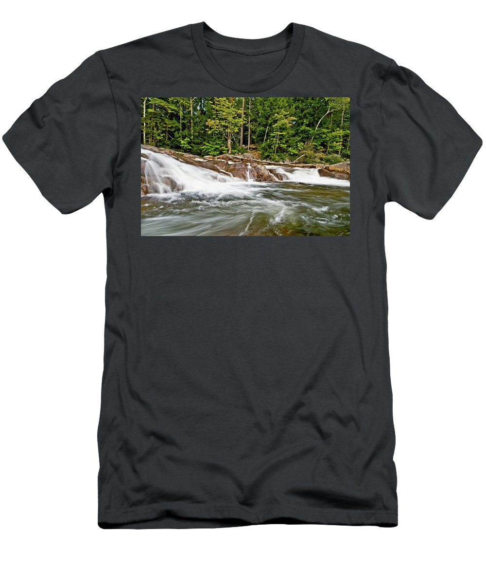 lower Falls Men's T-Shirt (Athletic Fit) featuring the photograph It All Comes Together by Paul Mangold