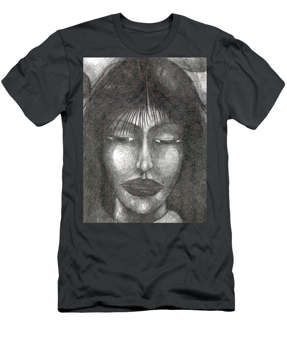 Psychedelic Men's T-Shirt (Athletic Fit) featuring the drawing It Will Be So by Wojtek Kowalski