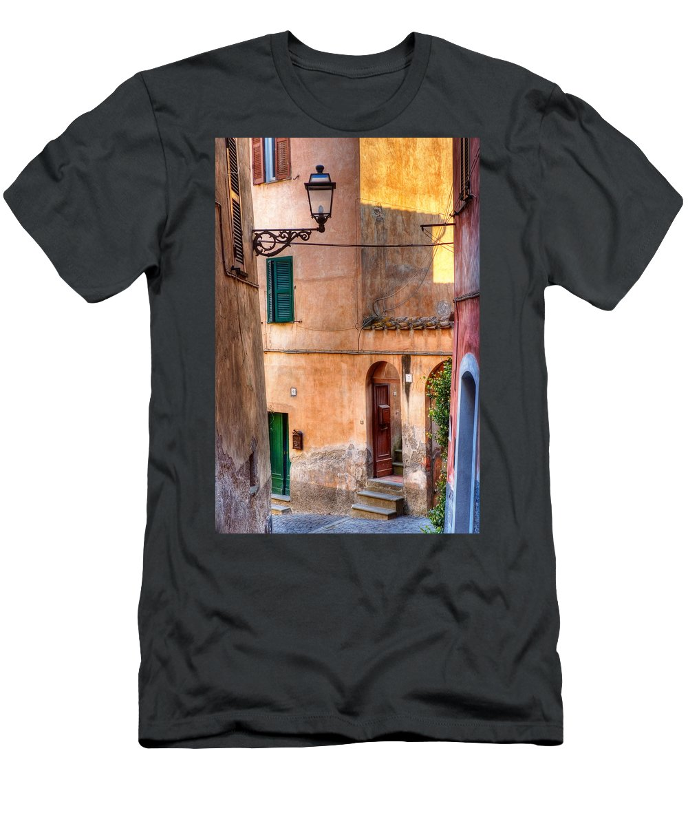 Old Men's T-Shirt (Athletic Fit) featuring the photograph Italian Alley by Silvia Ganora