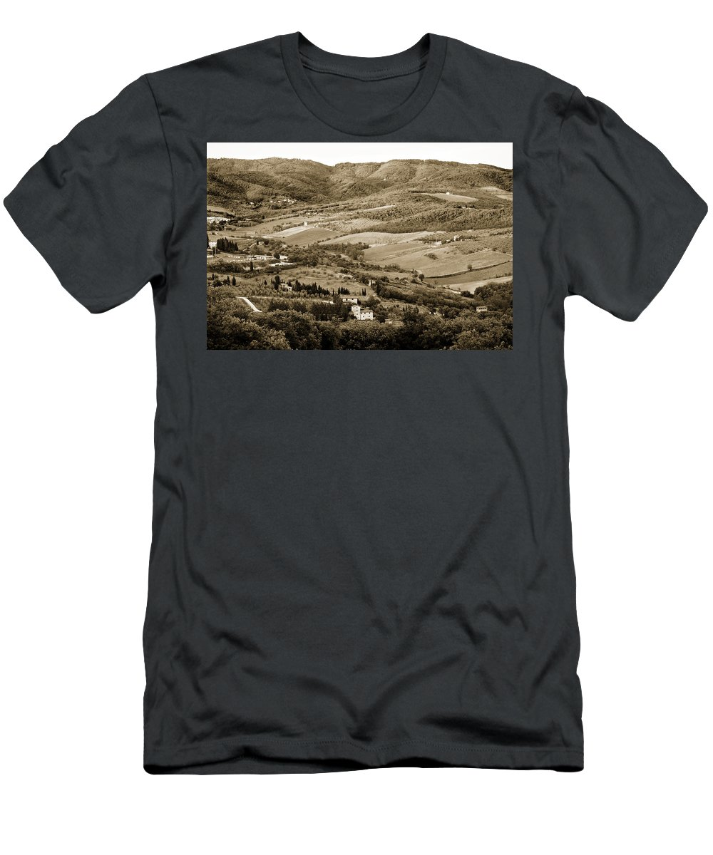 Italy Men's T-Shirt (Athletic Fit) featuring the photograph Italy From Above by Marilyn Hunt